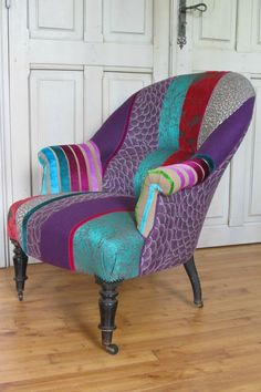 Chair Upholstery, Upholstered Furniture, Wingback Chair, Antique Furniture, Diy Furniture, Armchair, Sofa, Couch, Designers Guild