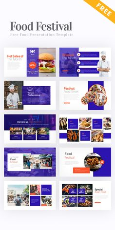 Free Food Festival Presentation Template #PowerPoint #PPT #template #free