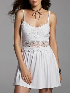 SHARE & Get it FREE | Lace Spliced Cami Mini DressFor Fashion Lovers only:80,000+ Items • New Arrivals Daily Join Zaful: Get YOUR $50 NOW!