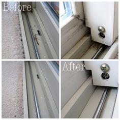 Clean window track