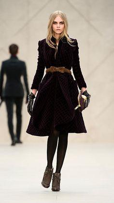 velvet coat by burberry