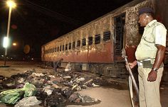 21 jailed for life in India over Gujarat killings   The burnt coach at the Godhra railway station