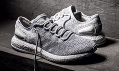 adidas Pure Boost Primeknit Grey White