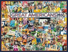 Great Americans (1000 Piece Puzzle by White Mountain)