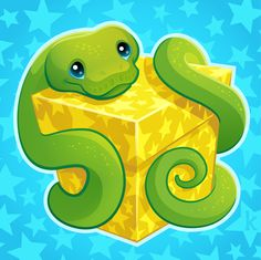 Wrapped up in a cute little Boa by Karianne Hutchinson Illustration Vector Illustrator wrapped up in a neat little bow snake snek snoot boop cute friendly art python emerald tree boa