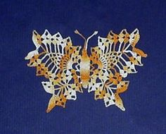 Minature Hand Crocheted Butterfly - Variegated Yellows by merrythreads for $7.50