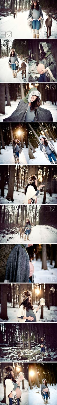 Heather Mosher Photography - Snow Maternity Winter pregnancy NYC maternity newborn childrens photographer