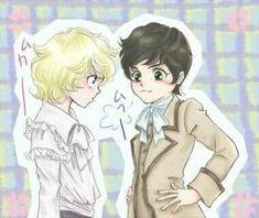Young Oscar e André Dorian Gray, Manga Art, Manga Anime, Lady Oscar, Black Sails, Anime Love, Entertainment, Versailles, Pink