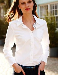 Classic White Blouse Shirt | Fashion Ql