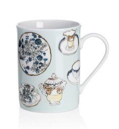 Taza con diseño de taza de té