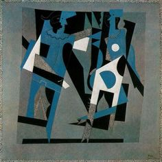 Harlequin And Woman With Necklace 1917 Pablo Picasso