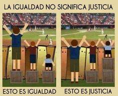 שוויון זה לא תמיד צדק.....משמאל שוויון מימין צדק  L'egualite n'est pas toujours justice....