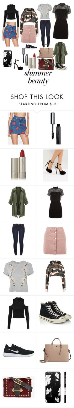 """""""Fashion Style"""" by brianna-renner ❤ liked on Polyvore featuring beauty, Nasty Gal, Bobbi Brown Cosmetics, Ilia, ASOS, Sandro, Dorothy Perkins, Topshop, Converse and NIKE"""