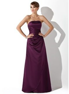Sheath Strapless Floor-Length Satin Bridesmaid Dress With Ruffle Beading     From  JJ's House, Bridal & bridal accessories.  www.jjshouse.com    We ship to Australia.   Please mention that you found them thru Jevel Wedding Planning's Pinterest Account.  Keywords: #bridesmaidsdresses #jevelweddingplanning Follow Us: www.jevelweddingplanning.com  www.facebook.com/jevelweddingplanning/