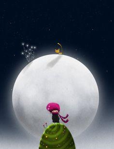 Estar en la luna es mi mundo