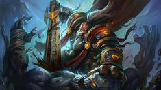 World of WarCraft WoW Demons Warriors Swords Games Girls Fantasy World Of Warcraft Gold, Fantasy Dwarf, Fantasy Warrior, Fantasy Men, Armadura Steampunk, Pandaren Monk, Dwarf Paladin, World Of Warcraft Wallpaper, Art Warcraft