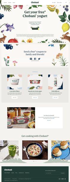 Chobani home page site design
