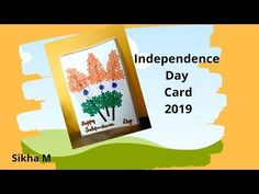 Independence Day Card Making Independence Day Drawing, 15 August Independence Day, Handmade Greetings, Greeting Cards Handmade, Online Tutorials, Republic Day, Paper Punch, Green Colors, Paper Flowers