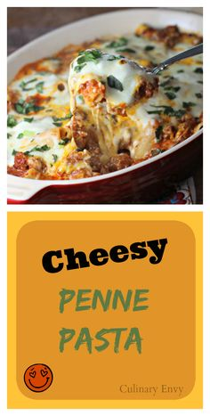 Cheesy Penne Pasta is a delicious and hearty 4-cheese casserole with incredible Italian flavors.  AMAZING! Kids love it!