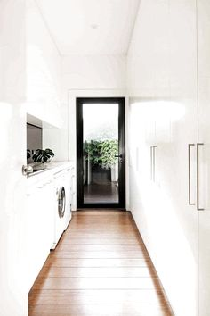 Home Renovation, creative yet captivating post number 7462771540 - Basic yet riveting home design tactic. Home Design, Home Interior Design, Interior Livingroom, Modern Laundry Rooms, Laundry In Bathroom, Small Laundry, Laundry Room Inspiration, Melbourne House, Laundry Room Design