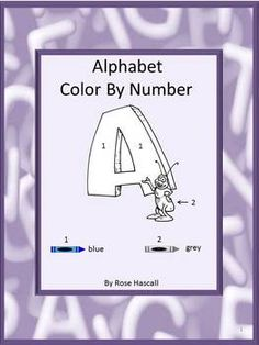 Coloring pages: Learning the Alphabet is important for a young student. Children love to color. Combing these two is a fun way for students to learn the Alphabet. Letters of the Alphabet are filled in using a number color key. This Alphabet Color By Number packet will help the student develop eye-hand coordination, color concepts, picture and number recognition. Developing these skills will help the student have success in other areas during their school days.
