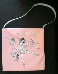 This was, no joke, my first ballet bag. It had a little door on the bottom right for your shoes.  Oh my so did I an yeah there is a place for your shoes! I was 4 or 5 so that would have been about 1960 -61 or so!