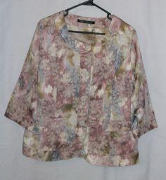 Compliments Women's sz 12 Princess Fit Dress Jacket  Floral Print #Compliments #DressJacket