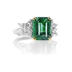 Harry Winston Rings: Colored Stone Rings - Marquesa Emerald... - Polyvore