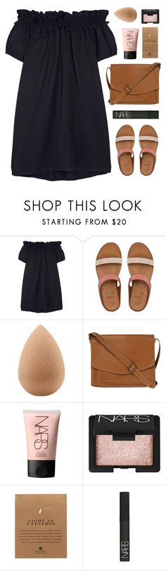 """""""Offshoulder"""" by amazing-abby ❤ liked on Polyvore featuring Clu, FitFlop, beautyblender, Fat Face, NARS Cosmetics and Dogeared"""