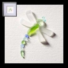Dragonfly sea glass
