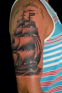 Ross K Jones Tattoo Artist - San Francisco Ca. : Ross K Jones 2013 Clipper Ship Tattoo
