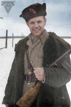 Andrey Karpusha - commander of the machine-gunners company,  partisan unit of A.F. Fedorov, 1943