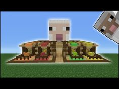 Minecraft Tutorial: How To Make A Sheep Pen - YouTube
