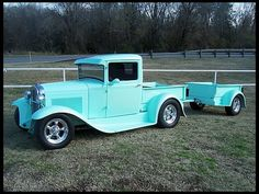 1931 Ford Street Rod Pick-Up With Matching Trailer