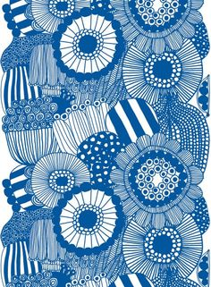 Marimekko fabrics - Buy online from Finnish Design Shop. Discover Unikko and other Marimekko fabrics for a modern home! Textile Design, Fabric Design, Design Art, Pattern Design, Design Shop, Scandinavian Fabric, Scandinavian Design, Swedish Design, Textures Patterns