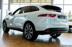 The #Jaguar #FPACE side and rear view.
