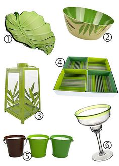 Green tabletop collection