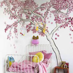 Muurschildering maken moeilijk? Deze boom schilder je makkelijk zelf!