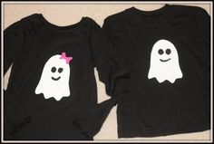The Friendly Ghost Halloween tshirt by girliebowsgalore on Etsy, $13.00