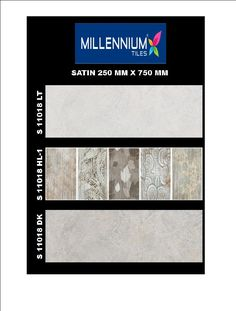 S_11018 - Millennium Tiles 250x750mm (10x30) Digital Satin Wall #CeramicTiles  - S_11018_LT  - S_11018_HL1  - S_11018_DK - Six Colour Technology: This six colour digital colour printing process uses CMYK inks plus a lighter shade of cyan (LC) and magenta (LM) to create more realistic tiles.  - Digital Technology: For details, Digital printing technology in ceramic tiles enables us to print anything and everything onto the tiles with unlimited & everlasting colours. Feel effect with punches…