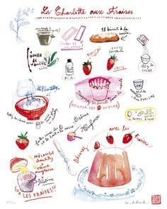 Charlotte aux fraises.