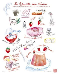 Kitchen poster French cake recipe Charlotte with by lucileskitchen,