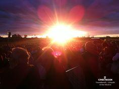 """""""gestern abend bei den pyrogames in dresden...der sonnenuntergang war gigantisch""""  © Sitta Faehndrich"""