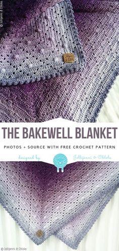 The Bakewell Blanket Free Crochet Pattern - Knitting Bordado - Maria S. - The Bakewell Blanket Free Crochet Pattern - Knitting Bordado The Bakewell Blanket Free Crochet Pattern Afghan Crochet Patterns, Crochet Shawl, Crochet Stitches, Knit Crochet, Knitting Patterns, Free Knitting, Knitting Ideas, Crochet Afghans, Start Knitting
