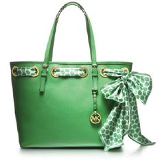 Make others green with envy this Valentine's Day, MICHAEL Michael Kors scarf tote