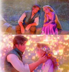 What I truly, truly love about Tangled is the message of looks don't matter and it's what's on the inside that counts. Rapunzel has a lisp, a dress too small for her, and pigeon toed feet. Flynn is physically gorgeous, but Rapunzel didn't fall for his looks. She fell for his spirit. Flynn also didn't care what Rapunzel looked like. He cut her hair not caring about the length, but that she would be okay. Gothel only loved her hair, and that was one thing that Eugene overlooked.