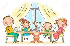 31993568-Cartoon-family-having-meal-together-Stock-Vector-family-dinner-eating.jpg (1300×854)