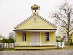 "The one-room schoolhouse in ""Old Town"" Sacramento, California - January 2003"