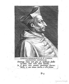 Carlo Borromeo, from Duodecim Cardinalium pietate, doctrina, rebusque gestis maxime illustrium ... - Theodor Galle