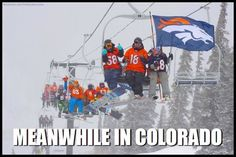Who can top this picture the folks at Loveland Ski Area sent us a short time ago? From the Continental Divide to lands down below.go Broncos! Go Broncos, Denver Broncos Football, Broncos Fans, Denver City, Denver Colorado, Aspen Colorado, Colorado Springs, Loveland Ski Area, Broncos Memes
